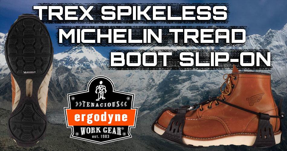 Ergodyne Trex Spikeless Michelin Tread Boot Traction Slip On
